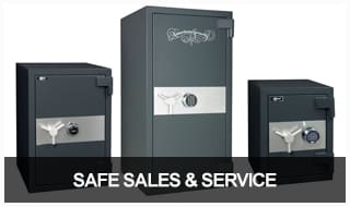 Image of 3 floor safes of different sizes